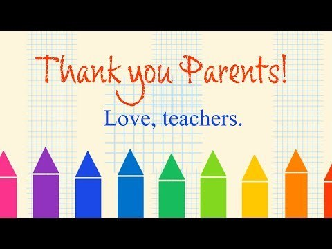Thank you, parents!